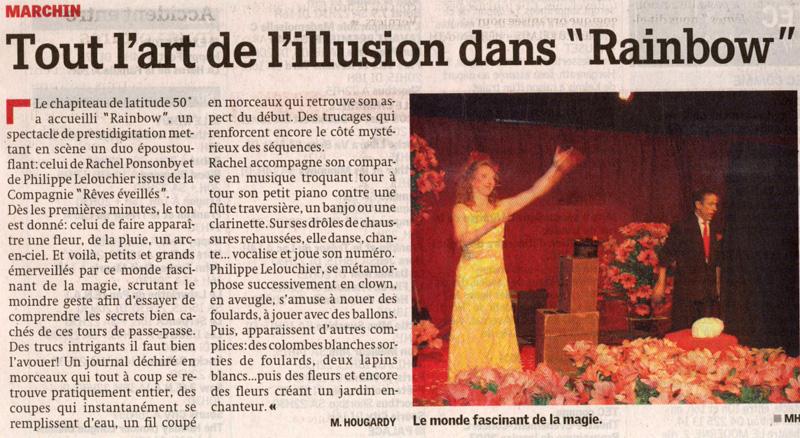 article presse La Meuse magicien Lelouchier