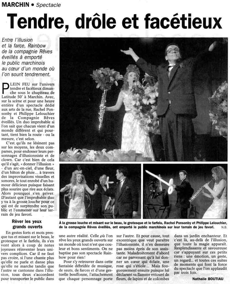 article de presse LE JOUR magicien Lelouchier
