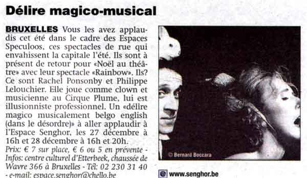 article de presse Metro magicien Lelouchier